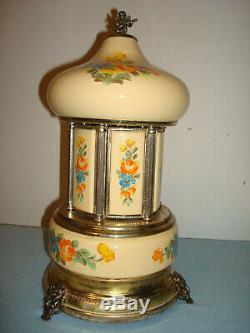 Vintage Simu Florence Italian Cigarette Lipstick Carousel Reuge Music Box