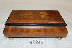 Vintage Sorrento Italy Jewelry Music Box With Reuge Swiss Movement Two Song