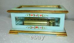 Vintage Sorrento Italy Reuge Hand Painted Music Box 72 Note Chopin Polonaise