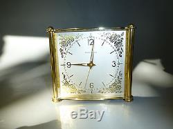Vintage Swiss Bucherer Reuge Music Box 8 Day Musical Alarm Clock (watch Video)