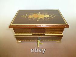 Vintage Swiss MAPSA (Pre Reuge) Dancing Ballerina Musical Jewelry Box Automaton
