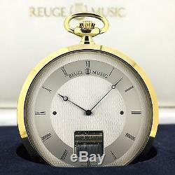 Vintage Swiss Made REUGE Musical Pocket / Desk Watch with orig. BOX, Music box