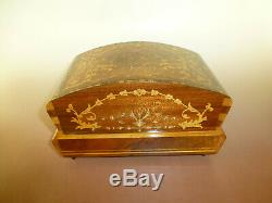 Vintage Swiss Pre Reuge Dancing Ballerina Music Box Jewelry Case (watch Video)