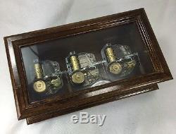 Vintage Swiss Reuge 72 Glass Oak Music Box