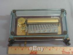 Vintage Swiss Reuge 72 Tone Music Box & Glass Case plays Paganini by Rachmaninov