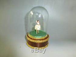 Vintage Swiss Reuge Dancing Ballerina Automaton Music Box (watch The Video)