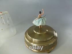 Vintage Swiss Reuge Dancing Ballerina Music Box Automaton (watch The Video)