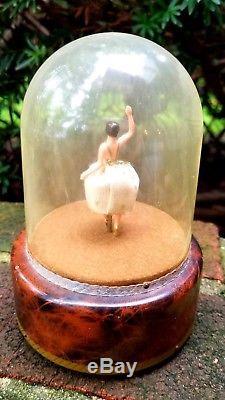 Vintage Swiss Reuge Dancing Ballerina Music Box Musical Automaton