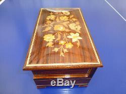 Vintage Swiss Reuge Dancing Ballerina Music Jewelry Box (watch The Video)