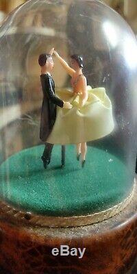 Vintage Swiss Reuge Dancing Ballroom Couple Ballerina Music Box Works