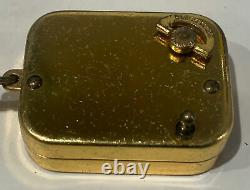 Vintage Swiss Reuge Goldfield Music Box w Key Chain Rare Brass movement