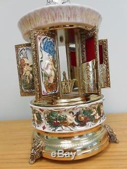 Vintage Swiss Reuge Lipstick/Cigarette Holder Music Carousel Plays Blue Danube