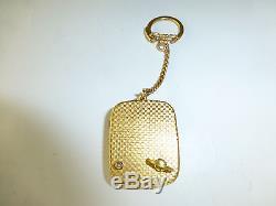 Vintage Swiss Reuge Miniature Music Box Key Chain, Pendant Mechanical Watch