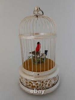 Vintage Swiss Reuge Music Birdcage Automaton, The Singing Bird, Saint Croix,'88