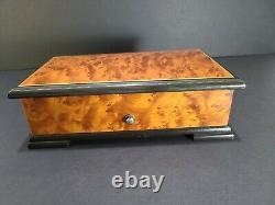 Vintage Swiss Reuge Music Box 72 Key Plays Hungarian Rhapsody F. Liszt (3 Parts)