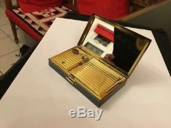 Vintage Swiss Reuge St Croix Musical Music Box Compact Seagull Bird Design