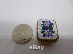 Vintage Swiss Sterling Silver Reuge Miniature Wind Up Music Box Musical Necklace