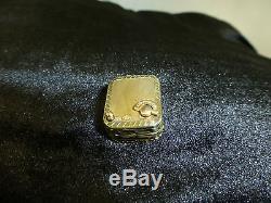 Vintage Swiss Sterling Sliver Reuge Miniature Wind Up Music Box Musical Necklace