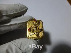 Vintage Swiss Sterling Sliver Reuge Miniature Wind Up Music Box Musical Pendant