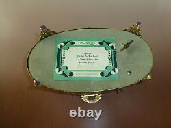 Vintage Swiss Thorens Pre Reuge Music Box Ornate Brass Footed Beloved Glass Case