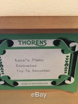Vintage THORENS PRE REUGE Swiss Music Box 50 Key Play 3 Songs