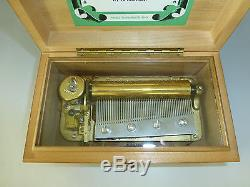 Vintage THORENS PRE REUGE Swiss Music Box 50 Key Play 3 Songs (WATCH VIDEO)