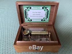Vintage THORENS (Pre-Reuge) 3 Song 36 Key Walnut Music Box Circa 1940-1950