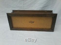 Vintage Thorens Interchangeable Music Box 20.52 Signed, Runs, Needs Service