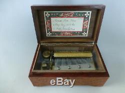 Vintage Thorens (Pre Reuge) Music Box 50Keys Play 3 Songs (Watch The Video)