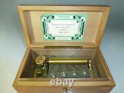 Vintage Thorens (Pre Reuge) Music Box 50Keys Play 4 Songs (Watch The Video)