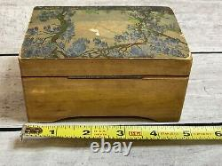 Vintage Thorens Swiss (Pre Reuge) Wooden Music Box Plays 2 Songs 5 Antique Box