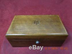 Vintage Thorens (pre-reuge) Walnut Music Box Swiss Shield Inlay 4 Tune 50 Note