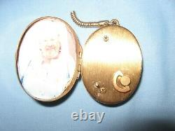 Vintage WAN Music Box Pendant Pagoda Design Picture Inside