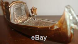 Vtg. Bronze Copper Gondola Reuge Switzerland Music Box
