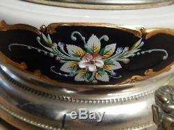 Vtg Italian Enameled Porcelain & Silver Plate 16 Carousel Cigarette, Lipstick H