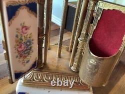 Vtg Italy Brevettato Reuge Music Box Carousel Sam Scandicci Lipstick Cigarette