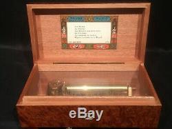 Vtg Pristine Reuge Sainte Croix Swiss Music Box 6/41 Rare Thuya Wood 154 Abcdef