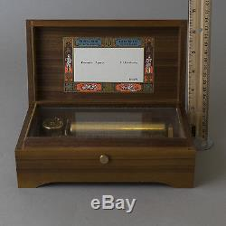Vtg Reuge 72 Note Wood Music Box Concerto 3 Parts Song PI Tchaikovsky Swiss