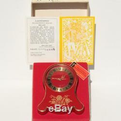 Vtg Reuge Desk Clock Music Box Swiss Made Mechanical Movement 2 Songs Alarm Case