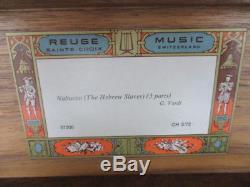 Vtg. Reuge Music Box Switzerland CH 3/72 37208 Nabucco (the Hebrew slaves)