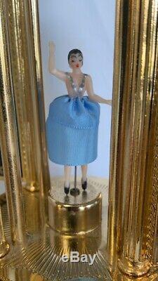 Vtg Reuge Music Of The Night Ballerina Music Box Cigarettes / Lipstick Holder