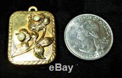 Vtg Reuge Sterling 925 Minature Wind-up Swiss Music Box Charm/pendant