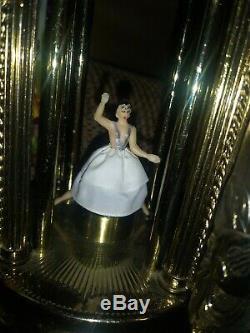 Vtg Sima Reuge Dancing Ballerina Carousel Music Box Lipstick Cigarette Holder