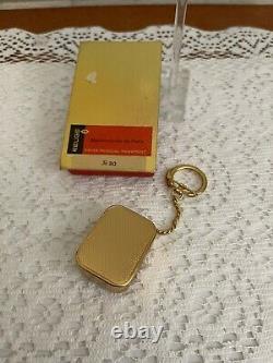 Vtg Swiss Reuge Goldfields Music Box Key Chain Rare Brass movement