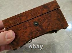 WORKS! Vintage Thorens Swiss (Pre Reuge) Wooden WIND UP Music Box 2 Songs