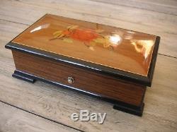 Walzenspieluhr Thorens 4 Tune 50 Note Matey Inlaid Swiss Music Box Uhr Reuge