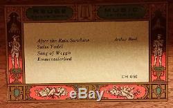 Wooden Reuge Saints-Croix Swiss Musical Box